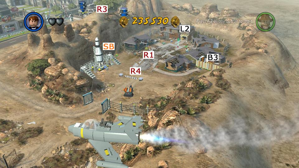 Lego indiana jones 2 crystal skull part 1 hub map races and lego indiana jones 2 screenshot gumiabroncs Choice Image
