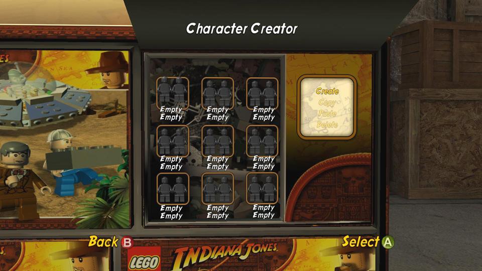 Character Creator - LEGO Indiana Jones 2